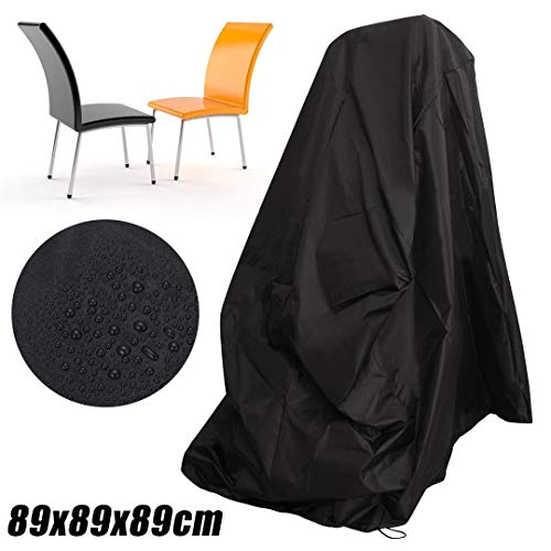 Chair Cover - Waterproof Chair Cover Dust Rain Patio Furniture Protection 89x89x89cm - C300 Light Gold Gaming Clear Queen Tacks Blue Straps Only Event Office Armchair Design Cushion Zebra Chairs