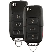 Discount Keyless Replacement Uncut Car Remote Fob Key For Volkswagen Passat Jetta Golf Cabrio HLO1J0959753AM (2 Pack)