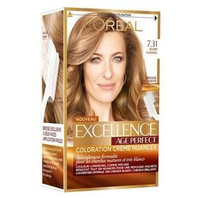 excellence age perfect coloration n731 blond caramel for multi item order - Coloration Caramel Dor