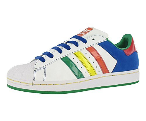 Patent Leather Adidas - Adidas Superstar 2 CB Men's Sneakers Size US 10, Regular Width, Color White/Multicolour
