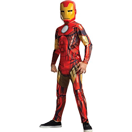 Iron Man Costumes Marvel Heroes (Rubies Marvel Universe Classic Collection Avengers Assemble Iron Man Costume, Child Small)