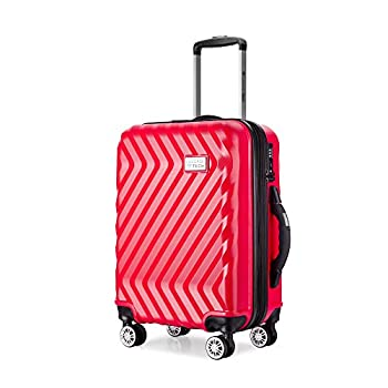 Image of Monaco Collection 28 inch GPS Location Smart Luggage with USB Ports Spinner Wheels and TSA Lock with Bulit in Scale Luggage (Red) Luggage