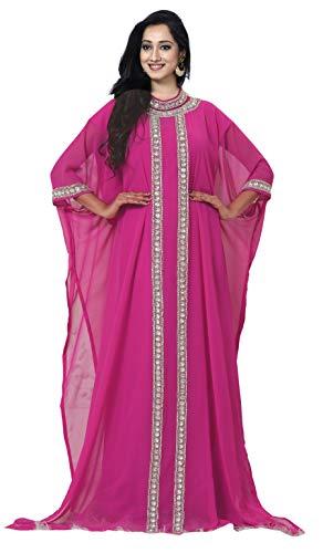 KoC Women's Kaftan Maxi Dress Farasha Caftan KFTN123-Pink ()