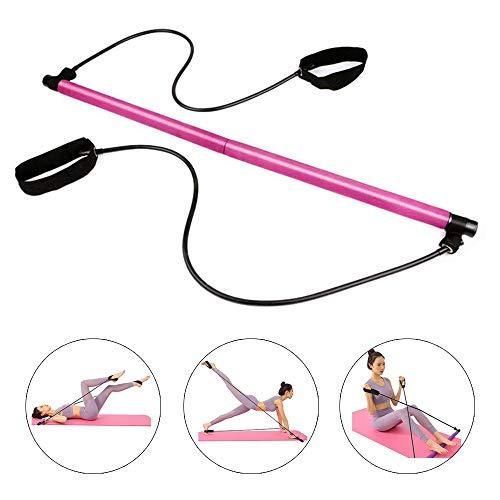 Kit de Barre de Pilates Portable – Kit de Barres de Barre de résistance à la résistance Physique – Idéal pour la Maison…