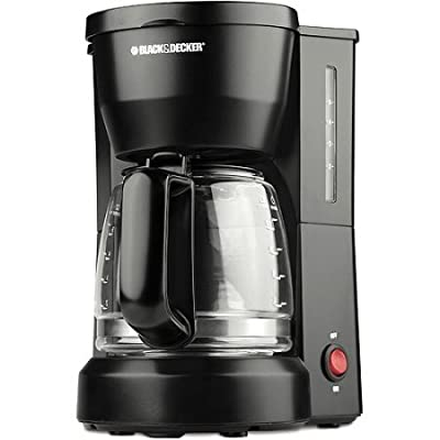 Black & Decker Black 5-cup Coffeemaker, Removable Filter Basket