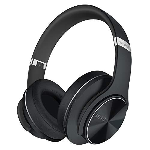 DOQAUS Auriculares Inalámbricos Diadema, [52 Hrs de Reproducción] Hi-Fi Sonido, Cascos Bluetooth con 3 Modos EQ, Micrófono Incorporado y Doble Controlador de 40 mm, para Móviles/Xiaomi/TV (Negro) a buen precio