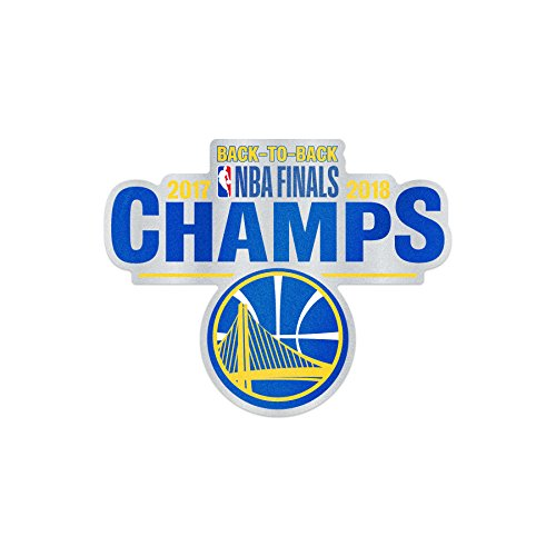 WinCraft Golden State Warriors Official NBA 3'' x 4'' 2018 National Champions Automotive Car Decal Badge by 262806 by WinCraft