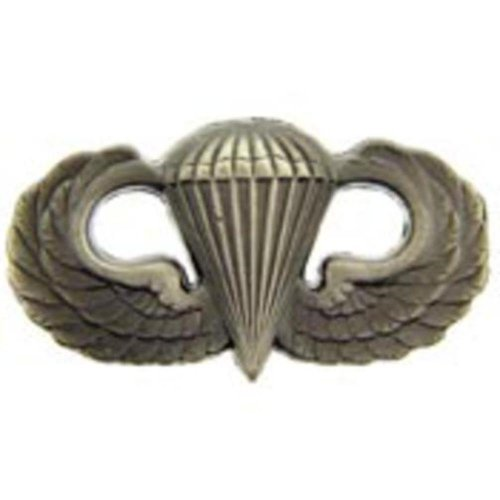 - U.S. Army Basic Jump Wings Parachutist Pin - Mini Oxidized Finish