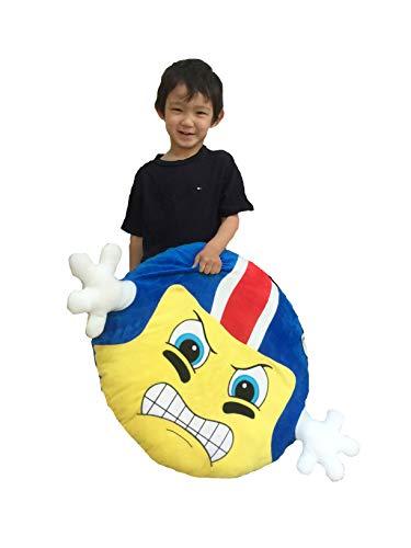 (Goffa American Football Player Emoji with Blue Helmet Cushion Pillow Stuffed Plush, 22