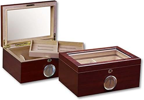 Prestige Import Group Berkeley Cherry Glass Top Humidor