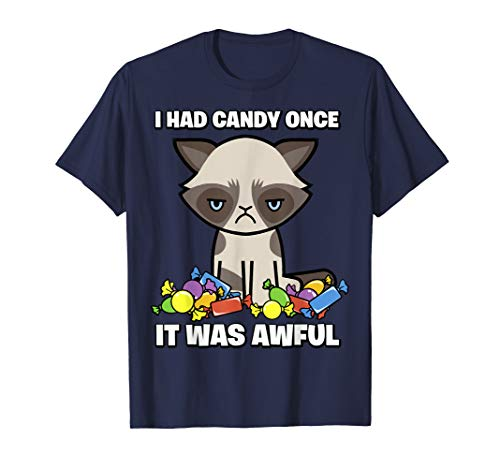 Grumpy Cat Halloween Had Awful Candy Once Graphic T-Shirt ()