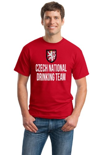 JTshirt.com-19829-CZECH NATIONAL DRINKING TEAM Unisex T-shirt / Funny Czech Republic Beer Tee-B00BCCDTOE-T Shirt Design