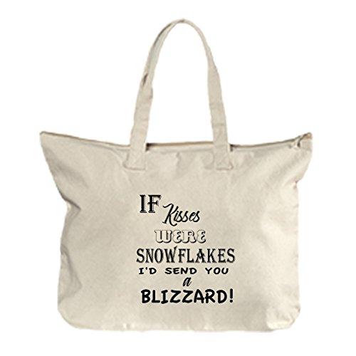 If Kisses Were I'D Send You A Blizzard Canvas Beach Zipper Tote Bag - Florida Beach Blizzard
