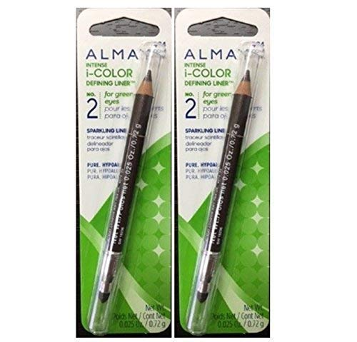 Almay Intense I-color Defining Liner for Green Eyes Mocha 034 (2 Pack)