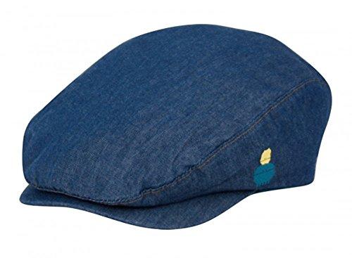 - Childrens Unisex Indoor/Outdoor LightWeight Denim Blue Kids Ivy Cap (3-6 Months)