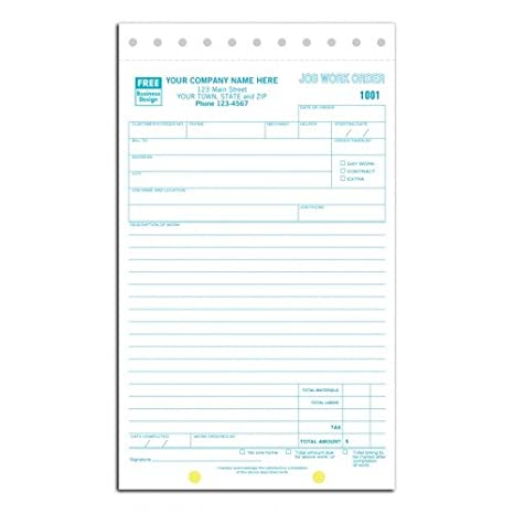 order form order sheet  Amazon.com : Carbonless Job Work Order Forms : Office Products