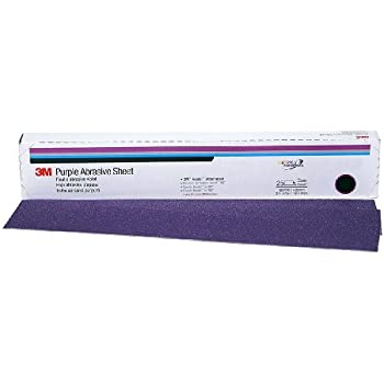 3M 02706 Hookit Purple 2 3//4 x 16-1//2 P180 Grit Dust-Free Sheet