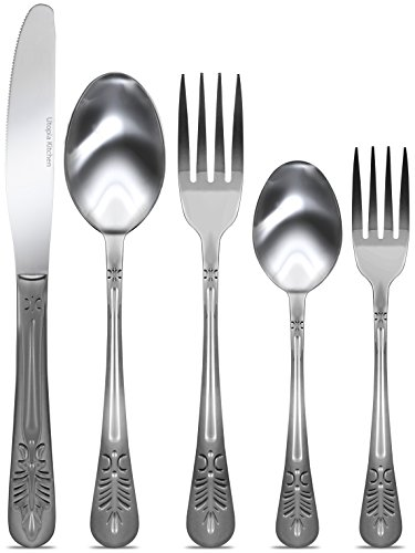 Flatware Set - 20-Piece Set - Service for 4, Sterling Quality, Royal Cutlery, Multipurpose Use for Home, Kitchen