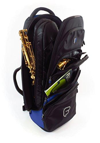 Fusion Premium Series (FB-PW-02-B) - Tenor Saxophone Gig Bag, Black/Blue by Fusion (Image #1)
