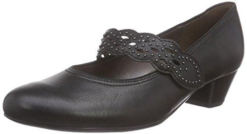 10 Pieds Noir Chaussures Jenny Femme Couvert à Catania Schwarz du Talons Schwarz Avant wT67HTq