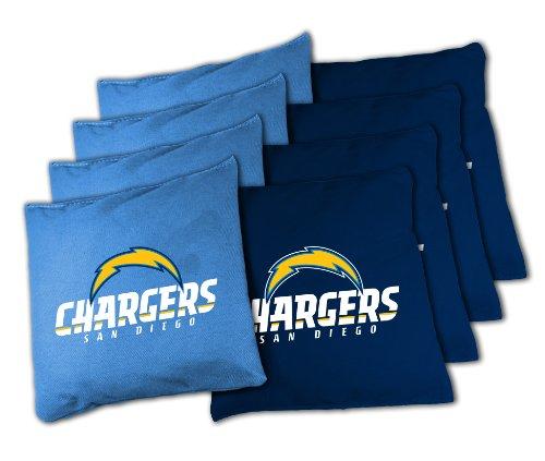 NFL San Diego Chargers 16oz, Duckcloth Cornhole Bean Bags