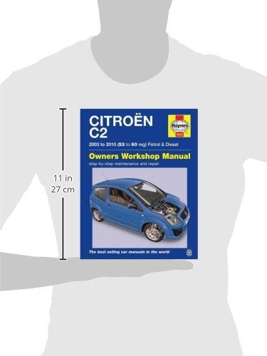 citroen c2 petrol diesel 03 10 haynes repair manual haynes rh amazon co uk citroen c2 haynes manual for sale citroen c2 workshop manual
