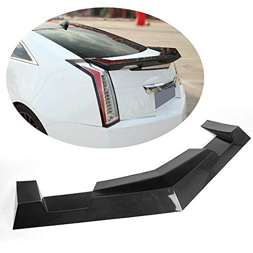 MCARCAR KIT Trunk Spoiler fits Cadillac CTS Coupe 2009-2015 Carbon Fiber CF Rear Boot Lid Highkick Spoiler Wing Lip