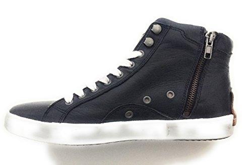 De Piel Zapatos Maca Mujer Para Kitzbühel Cordones Azul FzEzTxpgqw