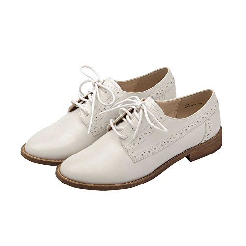 Pic/Pay Jamie Womens Oxford - Classic Lace-up Oxford Shoe White Leather VPzLPA