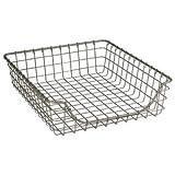 Shallow Wire Display Basket w/Nickel Finish