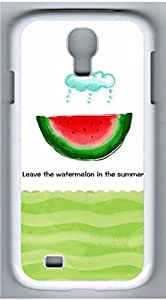 Samsung Galaxy S4 I9500 White Hard Case - Summer Watermelon Galaxy S4 Cases