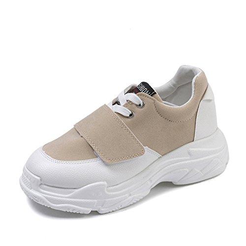 da da in Scarpe Donna Tinta Donna Scarpe Unita Donna Colore 39 Ginnastica da Dimensione Donna Casual Donna da da Scarpe da da Ginnastica Beige Donna Sneakers Scarpe da Sneakers SRqw8nR7z