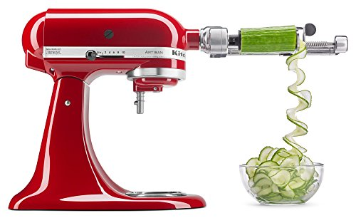 KitchenAid KSM1APC Spiralizer Attachment with Peel, Core and Slice Only $55.99 (Was $129.99)