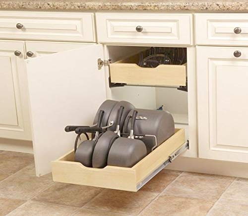 Real Solutions for Real Life 7.5 in. x 15.3 in. x 12 in. Pot and Pan Cabinet (Pull Out Stacking Kit)