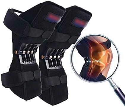 Knie Knee Booster Knie-Booster Tibia-Booster Meniskus-Knieschützer Kniestützen Gegen Gelenkschmerzen Kniegelenk-Patella-Schutzgurt (Color : Black, Size : 29.5 * 28 * 27cm)