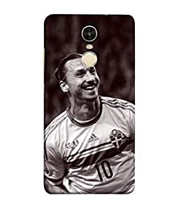 ColorKing Football Ibrahimovic Sweden 03 Multicolor shell case cover for Xiaomi Redmi Note 4