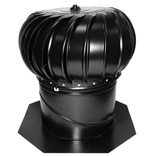 AIR VENT 52609 12'' Internally Braced Galvanized Turbine with Base/Black
