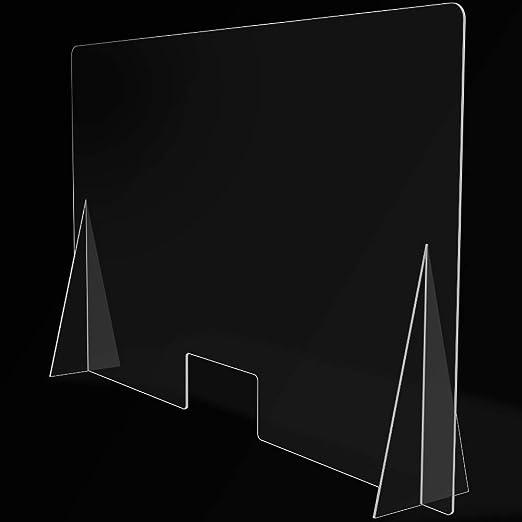 Mampara de Protección para mostradores, Policarbonato/Metacrilato Compacto 3-4 mm, Varias medidas (120cm x 80cm): Amazon.es: Salud y cuidado personal