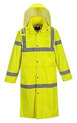 Portwest UH445 Hi Vis Classic Rain Coat ...