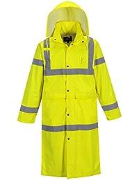 """Hi-Vis Classic Rain Coat 48"""" in Length, Hi-Vis Waterproof Rain Jacket"""