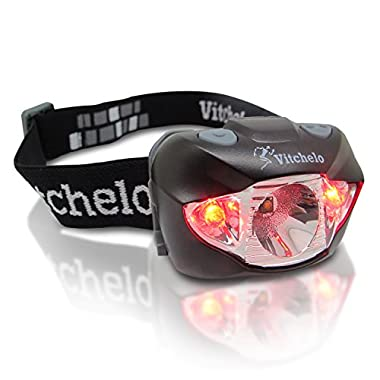 Vitchelo LED Headlamp V800 with Batteries, Green