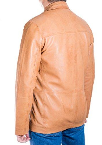 Classic e Button Blazer Leather Z D To Hombres Brown nag e Three Tailored de Am cuero Tan A contract xfwqXOAx