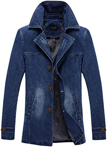デニム ジャケット メンズ 春秋 テーラードジャケット コート トレンチコート ビジネス カジュアル ゆったり 防寒 大きいサイズ