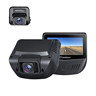 Dual Dash Cam, Front and Rear 1080P Dash Camera for Cars, Support 128GB Recorder Optional GPS with 3 Inch IPS Screen, Driving Recorder with IR Sensor Night Vision, Motion Detection, Parking Monitor