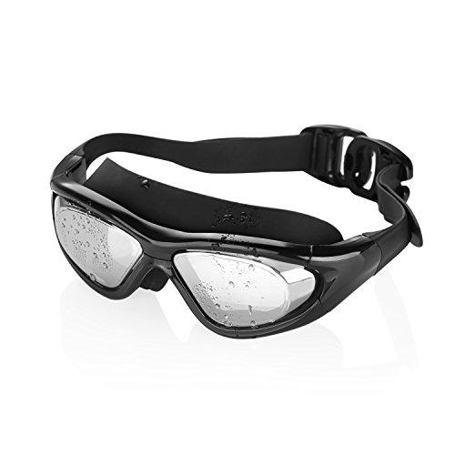 Schwimmbrillen, GVDV Schwimmen-Gläser Mirrored Anti-Fog 100% UV-Schutz Wasserdichtes Schwimmen Getriebe für Innen- oder Außenpool , Comfort Fit Schwimmen Maske für Männer oder Frauen