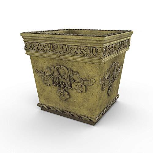 (Gardenstone Versailles Cast Stone Planter, English Moss)