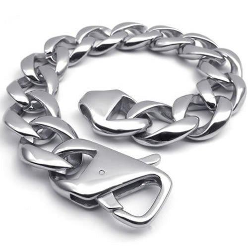 KONOV Polished Stainless Bracelet Silver
