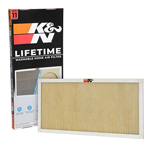 K&N Home Reusable Air AC Furnace Filter, 12x24x1
