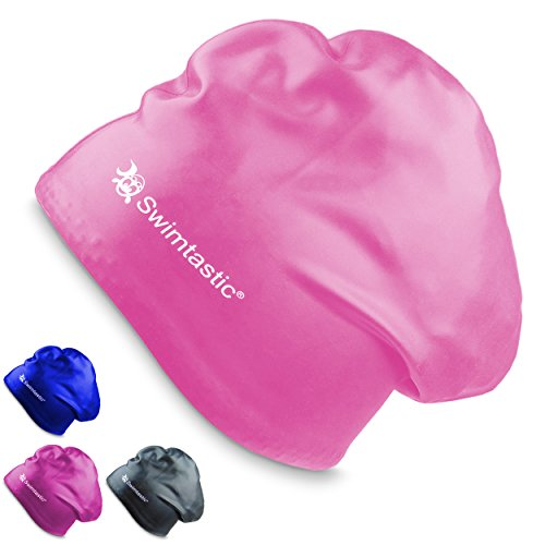 Swimtastic Long Hair Swim Cap - Pink