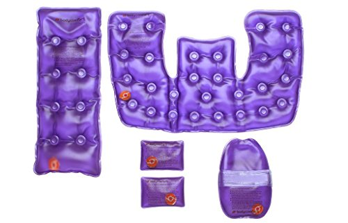 (Body Comfort Reusable, Instant Heat, Click Heat, Back, Neck and Shoulder, Hand, and Pocket Packs, Helps Relieve Pains, Aches, Injuries, and Sore Muscles, Lavender Scent)
